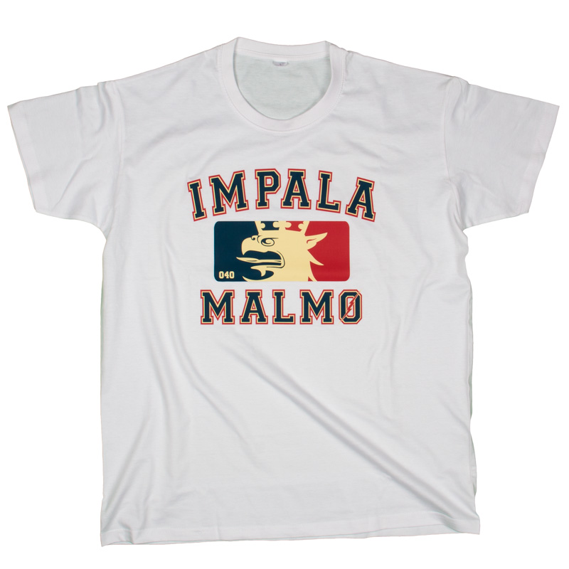 Impala Malmö NBA t-shirt i vit.