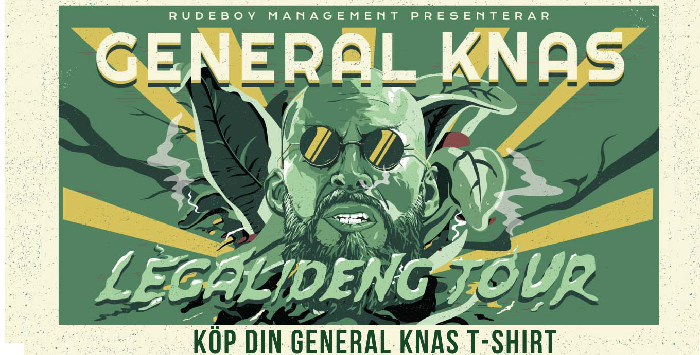 General Knas Legalideng Tour T-shirt.