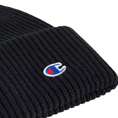 Champion Wool Blend C Beanie Hat, Black.
