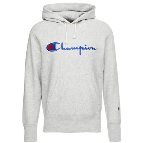 Champion Hood Reverse Weave. Big Script