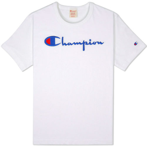 Champion Big Script T-shirt, White.