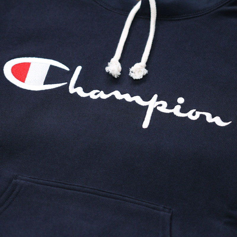 Champion Hood Big Logo, Navy.