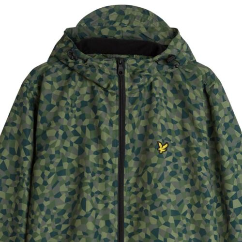 Lyle & Scott Hooded Jacket Geo Print