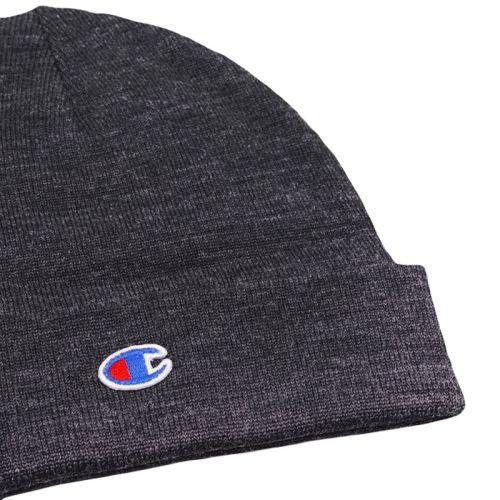 Champion Wool Blend Stretch C Beanie Hat, Grey.