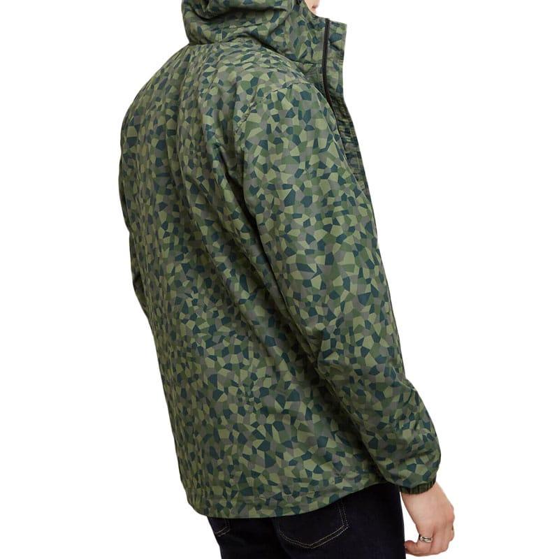 Lyle & Scott Hooded Jacket Geo Print, Green.
