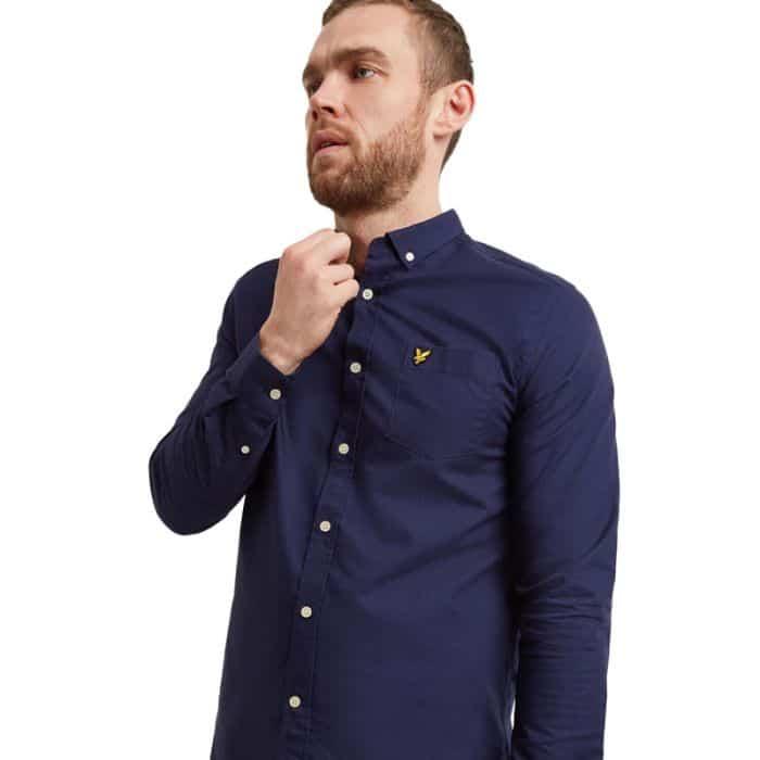 Lyle & Scott Oxford Shirt, Navy.