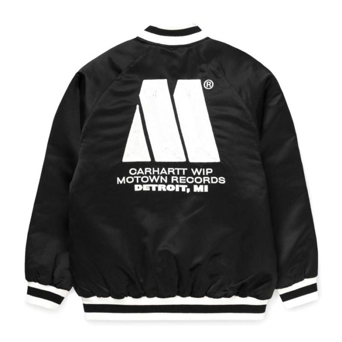 Carhartt WIP Motown Varsity Jacket, Black.