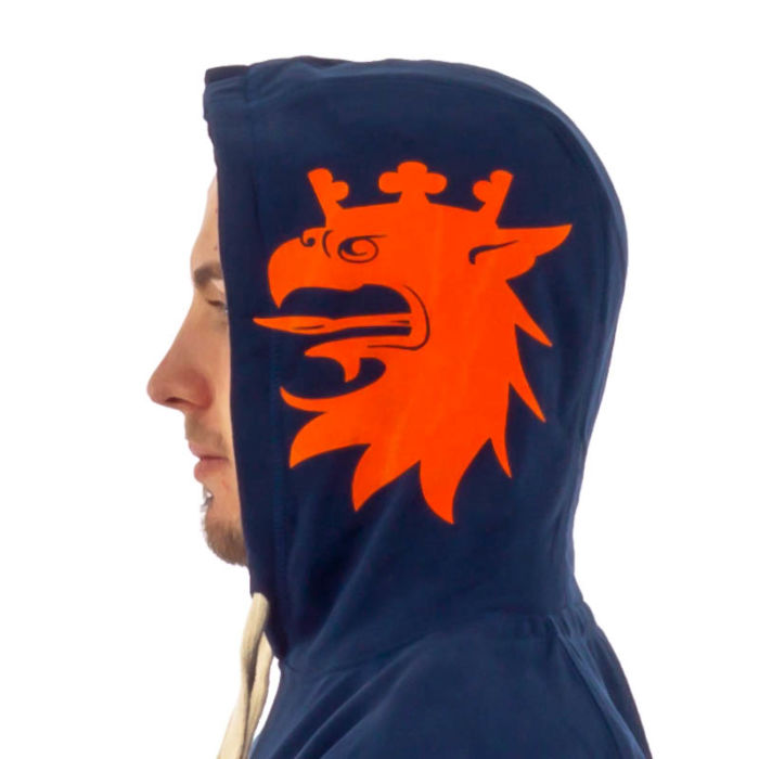 Malmö Grip Hood Navy/Orange.