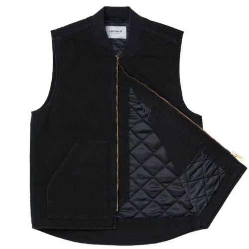 Carhartt Vest Organic Cotton, Black.